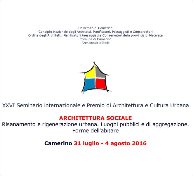 ARCHITETTURA SOCIALE | Camerino