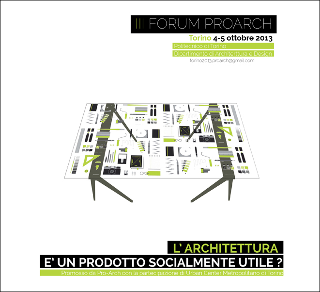 Speaker at III Forum Pro_Arch| Turin