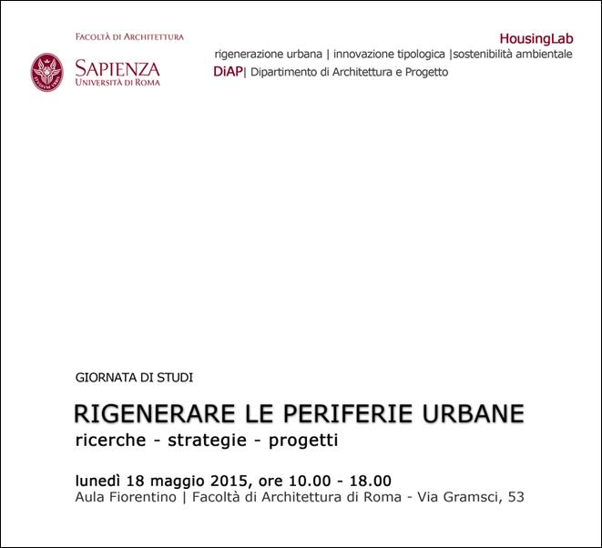 """""""Rigenerare le periferie urbane"""""""