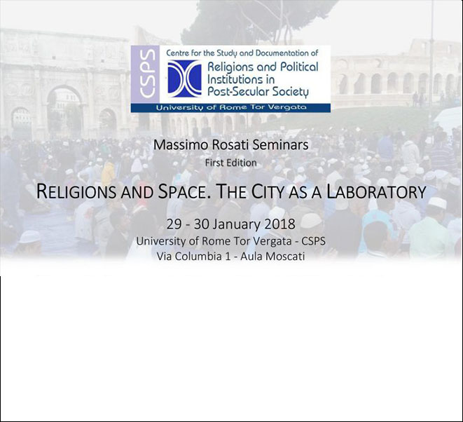 RELIGIONS AND SPACE | THE CITY AS A LABORATORY