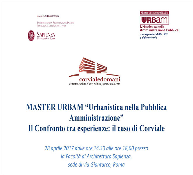 MASTER URBAN | URBAN PLANNING IN PUBLIC ADMINISTRATION