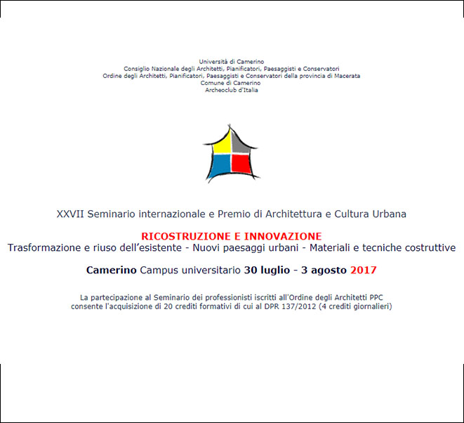 RECONSTRUCTION AND INNOVATION – CAMERINO