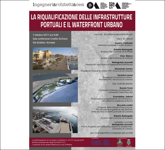 THE REDEVELOPMENT OF THE PORT INFRASTRUCTURES AND THE URBAN WATERFRONT