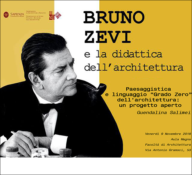 BRUNO ZEVI AND ARCHITECTURAL EDUCATION