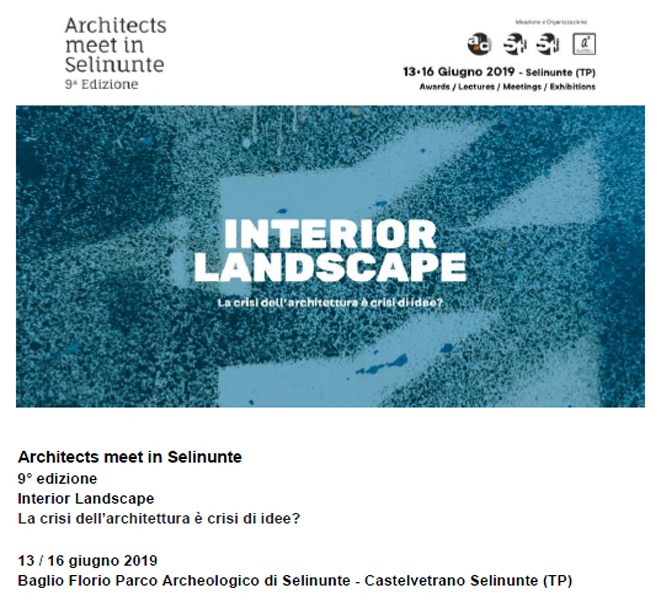 ARCHITECTS MEET IN SELINUNTE | INTERIOR LANDSCAPE