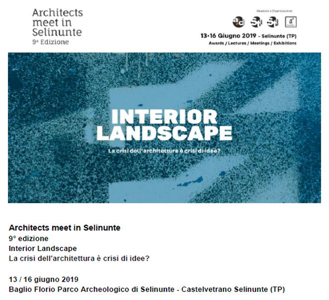 ARCHITECTS MEET IN SELINUNTE | INTERIOR LANDSCAPE